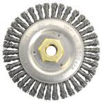 Weiler Dually Steel Wheel Brush 0.02 in Bristle Diameter - Arbor Attachment - 5 in Outside Diameter - 79802
