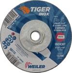 Weiler TIGER Standard (Type 27) Grinding Wheel - 30 Grit - 4 1/2 in Diameter - 1/8 in Thick - 58114