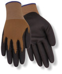 Red Steer 309 Black/Brown Large Synthetic Work Gloves - Polyurethane Palm Only Coating - 309-L