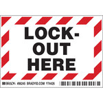Brady 86245 Black / Red on White Rectangle Polyester Lockout / Tagout Label - 5 in Width - 3 1/2 in Height - B-302