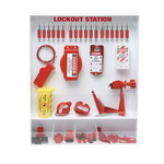 Brady Red/White Polystyrene Lockout Device Station - 25 in Width - 30 in Height - 754476-99692