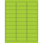 Box Partners Fluorescent Green Laser and Ink-Jet Printable Labels - 2 5/8 in Width - 1 in Height - 11411