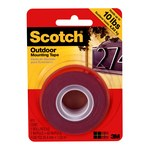 3M Scotch 411DC Gray Foam Mounting Tape - 1 in Width x 5 ft Length - 47103