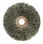 Weiler Stainless Steel Wheel Brush 0.118 in Bristle Diameter - Arbor Attachment - 3 in Outside Diameter - 1/2 to 3/8 in Center Hole Size - 16963
