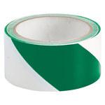 Brady Green/White Barricade Tape - 2 in Width x 18 yds Length - 45255