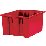 Red Stack & Nest Containers - 17 in x 14.5 in x 9.875 in - SHP-3041