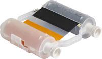 Brady 140847 Black/Orange Printer Ribbon Roll - 4.33 in Width - 200 ft Length - Cartridge - 94020