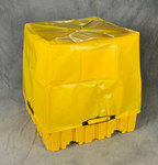 Eagle Yellow Pallet Tarp - 56 1/2 in Width - 56 1/2 in Length - 44 in Height - 048441-00868