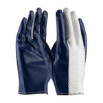 PIP Excalibur 60-3107 Large Cotton Work Gloves - Straight Thumb - Nitrile Full Coverage Coating - 60-3107/L