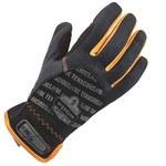 Ergodyne ProFlex QuickCuff 815 Black/Orange Large Polyester Mesh Work Gloves - 17204