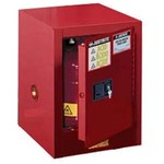 Justrite Sure-Grip EX 4 gal Red Steel Hazardous Material Storage Cabinet - 17 in Width - 22 in Height - Bench Top - 697841-11213