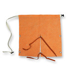 Chicago Protective Apparel Leather Heat-Resistant Apron - 24 in Width - 24 in Length - S-829-CL