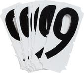 Brady Quik-Align 6500-9 Black Vinyl Number Label - Outdoor - 3 in Height - 3 in Character Height - B-933
