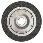 Weiler Steel Wheel Brush 0.0118 in Bristle Diameter - Arbor Attachment - 15 in Outside Diameter - 2 in Center Hole Size - 01534