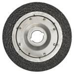 Weiler Steel Wheel Brush 0.0118 in Bristle Diameter - Arbor Attachment - 12 in Outside Diameter - 2 in Center Hole Size - 01532