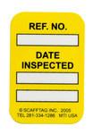 Brady Microtag MIC-MTIUSA Y Yellow Vinyl Micro Tag Insert - 1 1/4 in Width - 1 7/8 in Height - 14310