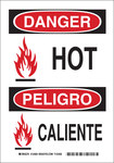 Brady B-555 Aluminum Rectangle White Equipment Safety Sign - 7 in Width x 10 in Height - Language English / Spanish - 124079