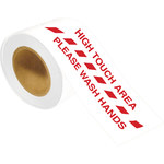 Brady Red / White Floor Marking Tape - Pattern/Text = English - 4 in Width x 100 ft Length - 64648