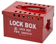 Brady White on Red Steel Combined Lock Storage & Group Lock Box 51171 - 7 in Width - 6 in Height - 40 Padlock Capacity - 754476-51171