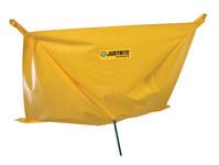 Justrite 28300 Yellow PVC Ceiling Leak Diverter - 5 ft Width - 5 ft Length - 697841-15690