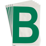 Brady Toughstripe 121700 Green Polyester Letter Label - Indoor - 6 in Width - 8 in Height - 8 in Character Height - B-514
