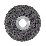 3M Scotch-Brite CS-UW Unitized Silicon Carbide Medium Deburring Wheel - Very Coarse Grade - Arbor Attachment - 2 in Diameter - 1/4 in Center Hole - 1/2 in Thickness - 01005
