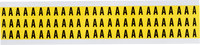 Brady 34 Series 3410-A Black on Yellow Vinyl Cloth Letter Label - Indoor - 11/32 in Width - 1/2 in Height - 3/8 in Character Height - B-498