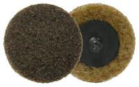 Weiler Non-Woven Aluminum Oxide Brown Quick Change Disc - Plastic Backing - Coarse - 2 in Diameter - 51532