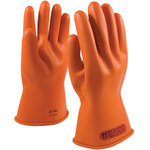 PIP Novax 147-0-11 Orange 9.5 Rubber Work Gloves - 11 in Length - Smooth Finish - 147-0-11/9.5