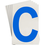 Brady Toughstripe 121707 Blue Polyester Letter Label - Indoor - 6 in Width - 8 in Height - 8 in Character Height - B-514
