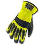 Ergodyne Proflex 730 High-Visibility Lime Small Armortex/EVA/Kevlar/Leather/PVC/Spandex Work Gloves - 16362