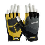 PIP Maximum Safety Gunner 120-4300 Black Large Polyester/Spandex/Synthetic Leather Work Gloves - PVC Coating - 6.8 in Length - 120-4300/L