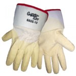 Global Glove Gripster Tuff 660E White XL Canvas/Cotton Work Gloves - Rubber Full Coverage Except Cuff Coating - Rough Finish - 660E/XL