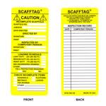 Brady Scafftag SCAF-STSI594 Yellow Polyester Scaffold Tag Insert - 3 1/8 in Width - 7 5/8 in Height - 14260