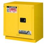 Justrite 19 gal Yellow Steel Hazardous Material Storage Cabinet - 30 in Width - 35 3/4 in Height - Floor Standing - 697841-12066