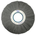 Weiler Silicon Carbide Wheel Brush 0.04 in Bristle Diameter 80 Grit - Arbor Attachment - 12 in Outside Diameter - 4 1/4 in Center Hole Size - 84750