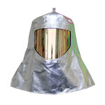 Chicago Protective Apparel Aluminized Carbon Kevlar Heat & Fire-Resistant Hood - With Window - 4.5 in Width - 5.25 in Height - WV-647-ACK