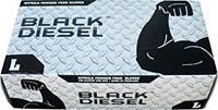 Red Steer Black Diesel 70000 Black Large Powder Free Disposable Gloves - Medical Grade - 9.5 in Length - Rough Finish - 70000-L