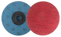 Weiler Saber Tooth Coated Ceramic Quick Change Disc - Cloth Backing - 80 Grit - Medium - 3 in Diameter - 60157
