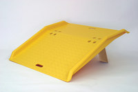 Eagle 750 lb Yellow High Density Polyethylene (HDPE) Dockplate - 36 in Overall Length - 35 in Width - 5 in Height - 00247