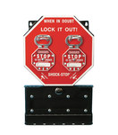 Brady Shock-Stop Black/White on Red Group Lockout Box 87692 - 10.5 in Width - 16.5 in Height - 662820-05123