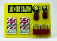 Brady Black/Yellow Acrylic Lockout Device Station - 15.5 in Width - 11.5 in Height - 754476-51181