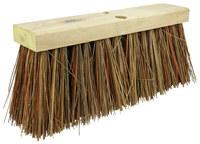 Weiler 420 Push Broom Head - Bass / Palmyra 6 1/4 in Bristle - 16 in Hardwood Block - 42032