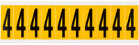 Brady 15 Series 1534-4 Black on Yellow Vinyl Number Label - Indoor / Outdoor - 7/8 in Width - 2 1/4 in Height - 1 15/16 in Character Height - B-946