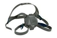 3M 6581 Black Silicone Head Strap - 4-Point Suspension - 051141-55886