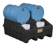 Justrite Black Ecopolyblend 3060 lb 66 gal Drum Stacker Shelf - 49 in Width - 59 in Length - 26 in Height - 697841-13453