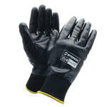 Sperian Pure Fit 372 Black Large Nylon Work Gloves - Nitrile Full Coverage Coating - Smooth Finish - 372-L