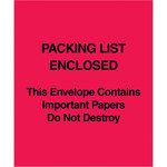Red Packing List Enclosed Envelopes - 5 in x 6 in - 2 Mil Poly Thick - SHP-8277