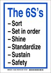 Brady B-302 Polyester Rectangle White 6S Sign - 7 in Width x 10 in Height - Laminated - 122284