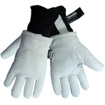 Global Glove 2800GDC White Large Split Goatskin Leather Cold Condition Gloves - Thinsulate Insulation - 2800GDC/LG